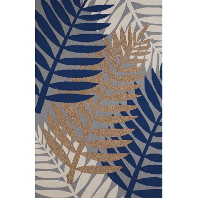 Sunbelt Hand-Woven Gray/Blue Indoor/Outdoor Area Rug Rug Size: 710 x 910