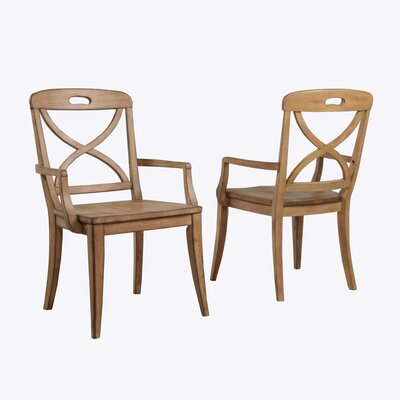 Millbrook X-Back Solid Wood Dining Chair Color: Sand