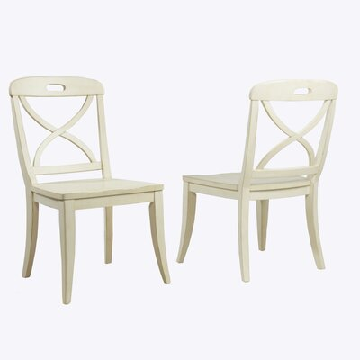 Millbrook X-Back Solid Wood Dining Chair Color: Buttermilk