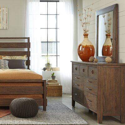 Driftwood 7 Double Dresser with Mirror