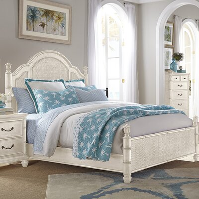 Isle of Palms Panel Bed Finish: Antique White, Size: Queen