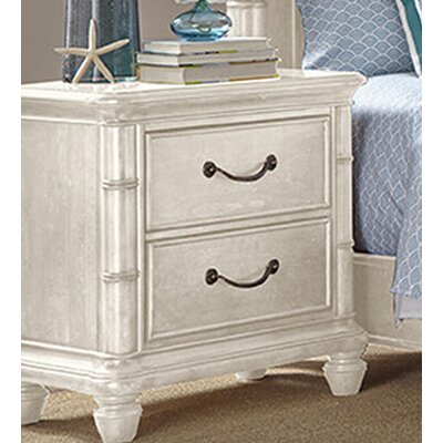 Isle of Palms 2 Drawer Nightstand Color: Antique White