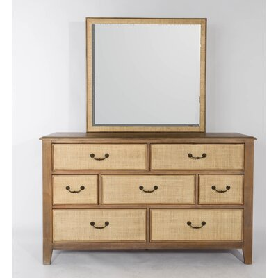 Linen 7 Drawer Dresser with Mirror