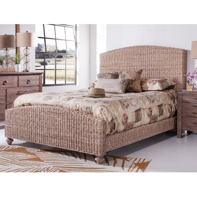 Driftwood Woven Panel Bed Size: King