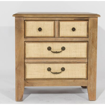 Linen 3 Drawer Nightstand