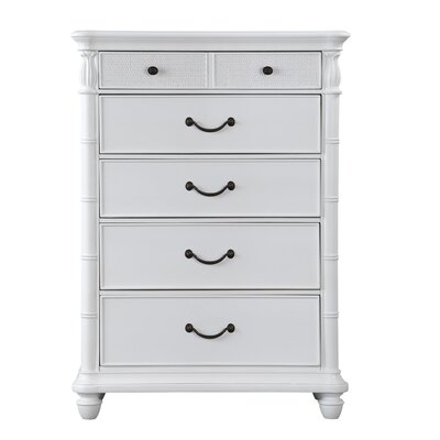 Isle of Palms 5 Drawer Chest Color: Antique White