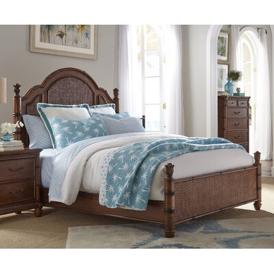 Isle of Palms Panel Bed Size: King, Finish: Brown
