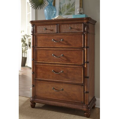 Isle of Palms 5 Drawer Chest Color: Brown