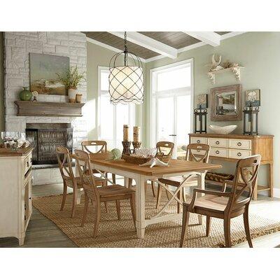 Millbrook Rectangular Extendable Dining Table Top Finish: Sand/Buttermilk