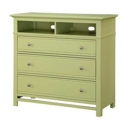 Colors 3 Drawer Media Chest Color: Citrus Green