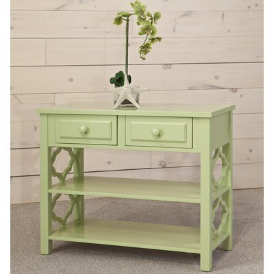 Colors Console Table Color: Citrus Green