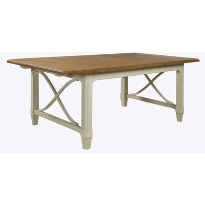 Millbrook Rectangular Extendable Dining Table Top Finish: Sand/Buttermilk