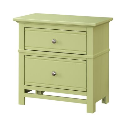 Colors 2 Drawer Nightstand Finish: Citrus Green
