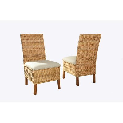Driftwood Woven Upholstered Dining Chair