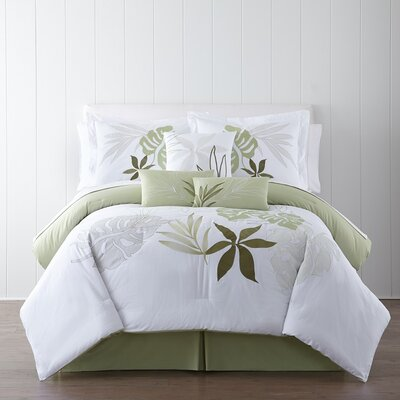 Lagoon 7 Piece Comforter Set Size: Queen