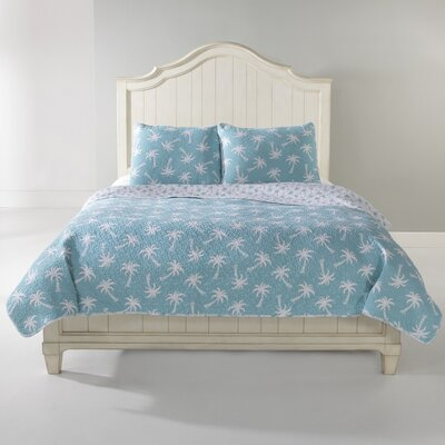 Palm Beach 300 Thread Count Cotton Sheet Set Size: Full, Color: Aqua