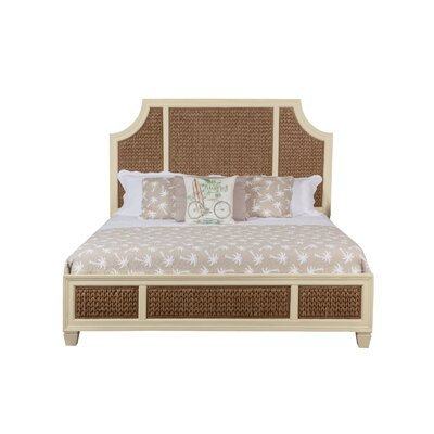 Bridge Hampton Woven Seagrass Panel Bed Size: Queen