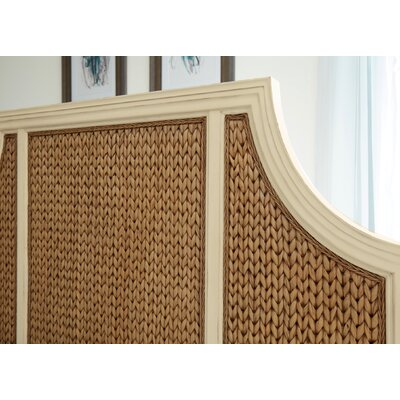 Bridge Hampton Woven Seagrass Panel Headboard Size: King
