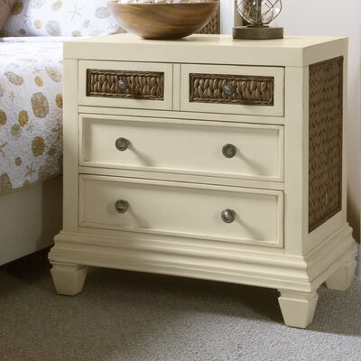 Bridge Hampton Seagrass 4 Drawer Nightstand