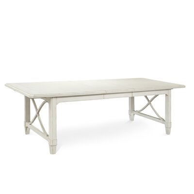 Millbrook Rectangular Extendable Dining Table Top Finish: Buttermilk