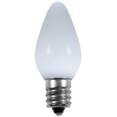 "Smooth LED Christmas Light Bulb Size: 0.88"" W x 0.88"" D, Color: Cool White"