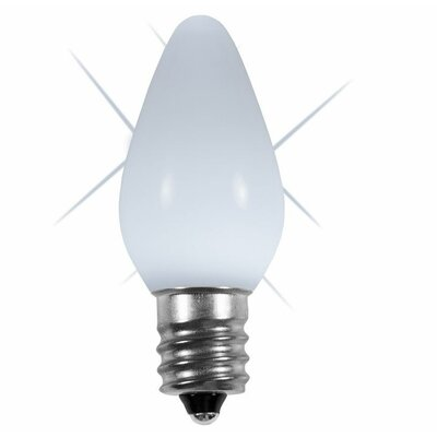 "Twinkle Smooth LED Christmas Light Bulb Size: 0.88"" W x 0.88"" D, Color: Cool White"
