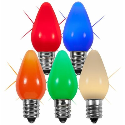 "Twinkle Smooth LED Christmas Light Bulb Size: 0.88"" W x 0.88"" D, Color: Multicolor"