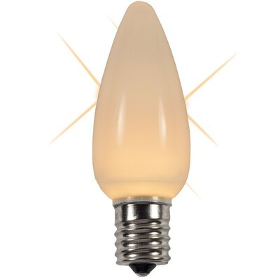 "Twinkle Smooth LED Christmas Light Bulb Color: Warm White, Size: 1.18"" W x 1.18"" D"