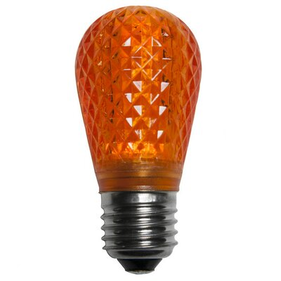 0.96W 130-Volt LED Light Bulb (Pack of 25) Color: Amber