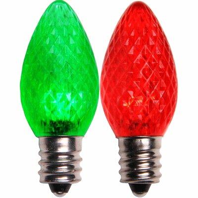 C7 130V Color Change LED Light Bulb Color: Red