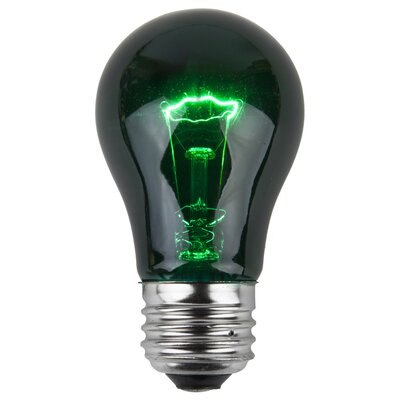 15W Green 130-Volt Light Bulb (Pack of 25)