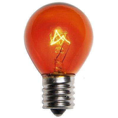 10W Amber 130-Volt Light bulb (Pack of 25)