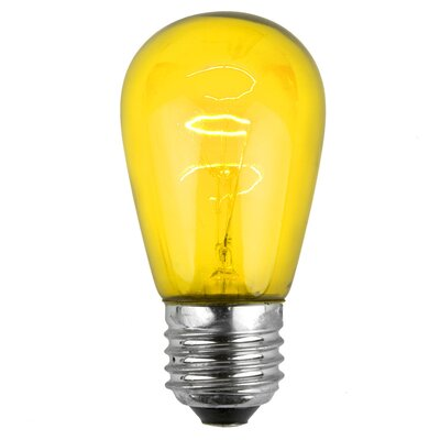 11W Yellow 130-Volt Light Bulb (Park of 20)