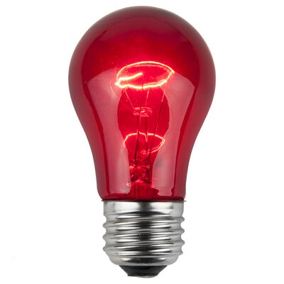 15W Red 130-Volt Light Bulb (Pack of 25)