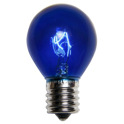 10W Blue 130-Volt Light Bulb (Pack of 25)