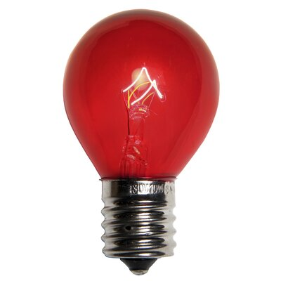 10W Red 130-Volt Light Bulb (Pack of 25)
