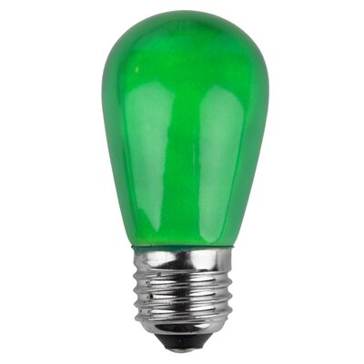 11W Green 130-Volt Light Bulb (Pack of 20)