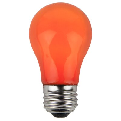 15W Orange 130-Volt Light Bulb (Pack of 25)
