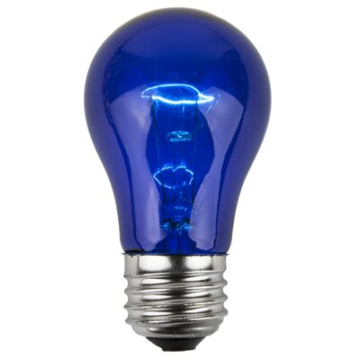 15W Blue 130-Volt Light Bulb (Pack of 25)