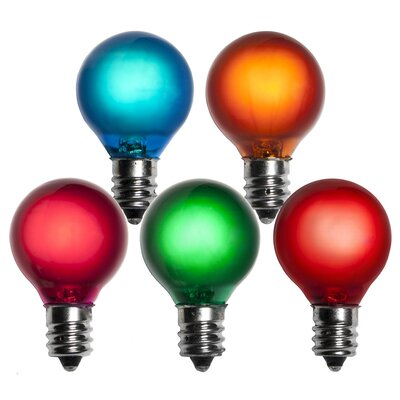 5W Multicolor 130-Volt Light Bulb (Pack of 25)