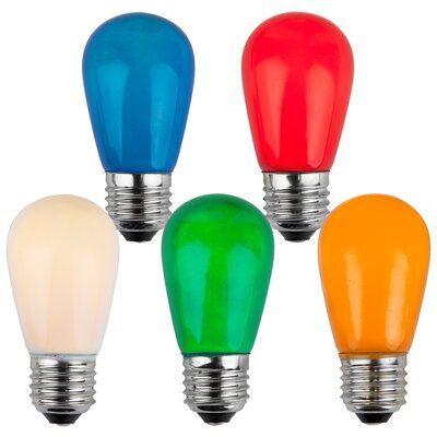 11W Multicolor 130-Volt Light Bulb (Pack of 25)