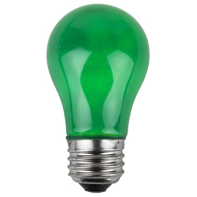 15W Green 130-Volt  Light Bulbs (Pack of 25)