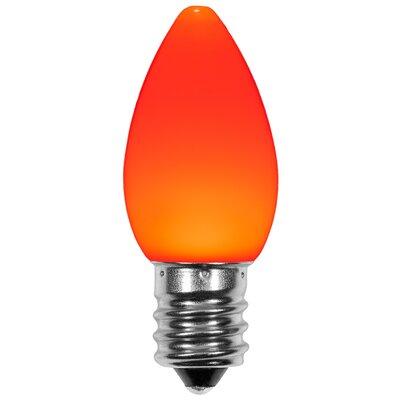 120W Orange E12/Candelabra LED Light Bulb