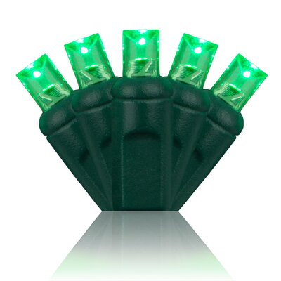 70 Light Christmas LED Light Bulb Color: Green