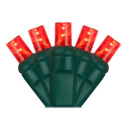 70 Light Christmas LED Light Bulb Color: Red