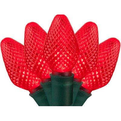 25 C7 LED Christmas Lights Bulb Color: Red