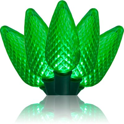 25 Light C9 LED Christmas Lights Bulb Color: Green 20347