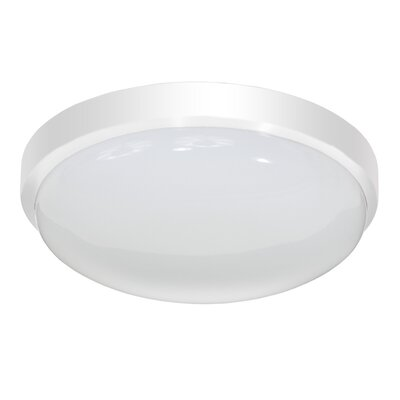 Smotherman Classic Round LED Flush Mount/Wall Sconce Finish: White, Size: Small