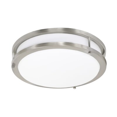 Envisage 1-Light Flush Mount Finish: White, Size: Small