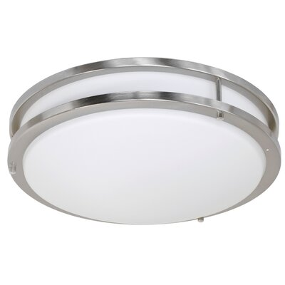 Elenore 1-Light Metal Flush Mount Finish: Chrome, Size: Medium